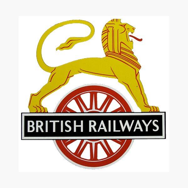 British Railway Lion on Bicycle Emblem Photographic Print