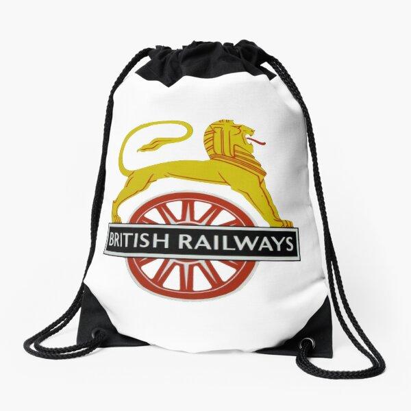 British Railway Lion on Bicycle Emblem Drawstring Bag