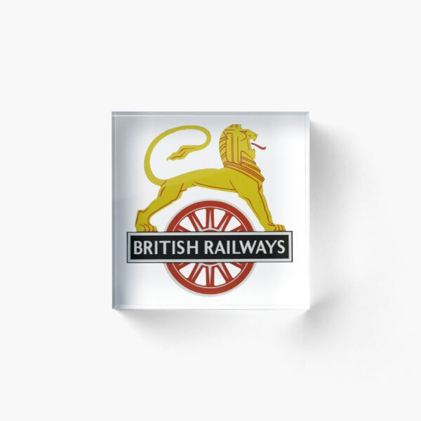 British Railway Lion on Bicycle Emblem Acrylic Block