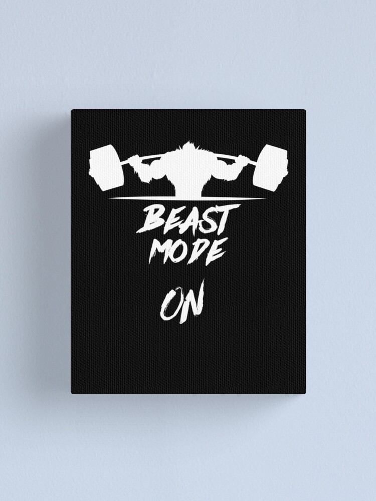 Alternate view of Beast Mode On Heavy Weights Canvas Print