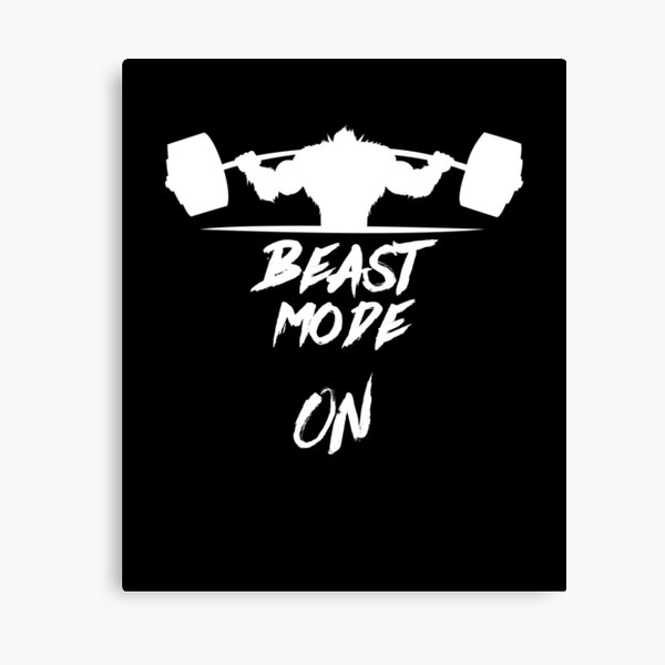 Beast Mode On Heavy Weights Canvas Print