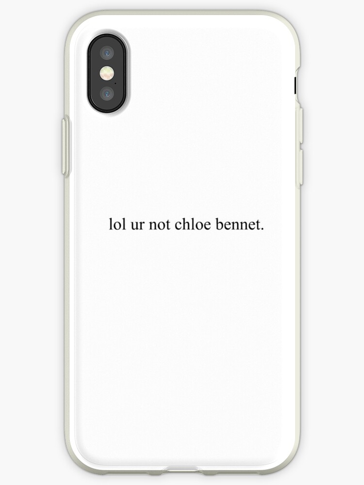 online store bc7d9 a74c7 'lol ur not chloe bennet' iPhone Case by introvertd