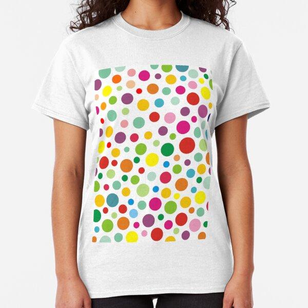 Rainbow colorful polka dots Classic T-Shirt