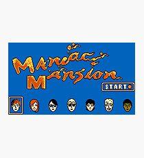 Maniac Mansion (NES) Photographic Print