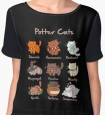 Potter Cats Chiffon Top