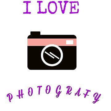 I love Photografy t-shirts by skshirts