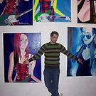 """On location at The Tap gallery 2007 at my solo exhibition """"The Blue Period"""" by Lasaration"""