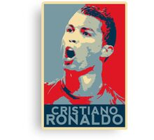 "Cristiano Ronaldo Portrait inspired by the Barack Obama ""Hope"" poster designed by Shepard Fairey. Canvas Print"