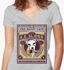 K.K. Slider Gig Poster Women's Fitted V-Neck T-Shirt