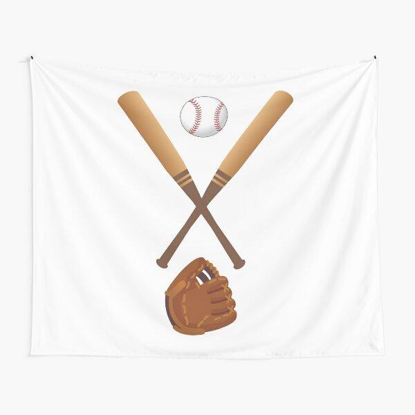 Baseball bats, glove, and ball Tapestry