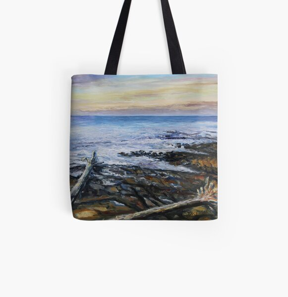 Winter Late Afternoon Georgina Point Mayne Island BC All Over Print Tote Bag