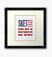 Sketching Love Hobby USA Distressed Flag Framed Print