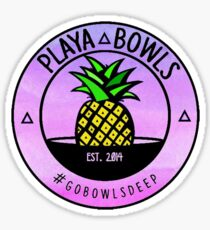 Ombre playa bowls Sticker