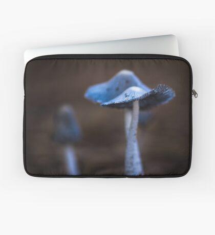 Macro Blue Fungi Laptop Sleeve
