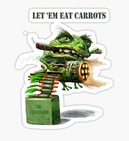 Lettem Eat Carrots text T Sticker