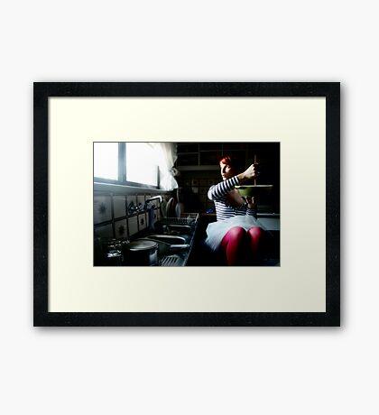 domestic goddess Framed Print