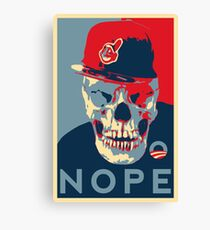 """Rage Skull Portrait inspired by the Barack Obama """"Hope"""" poster designed by Shepard Fairey. Canvas Print"""