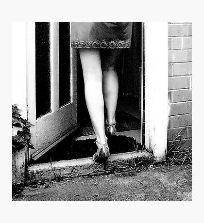 follow the girl Photographic Print
