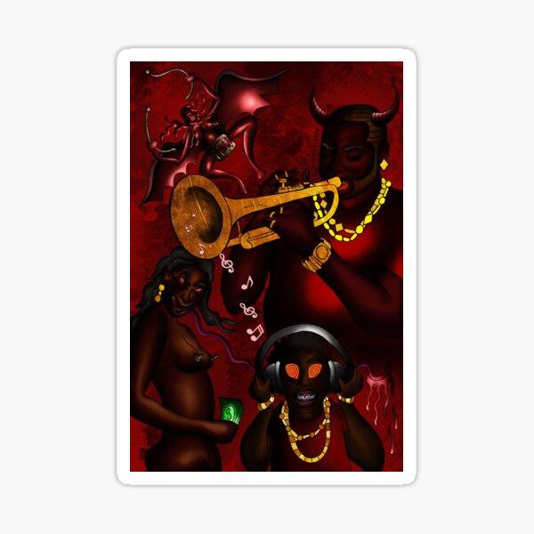 La música del diablo (Infierno en la tierra) Pegatina