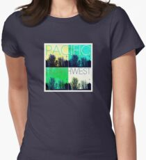 Pacific Northwest Green and Blue Color Grid  T-Shirt