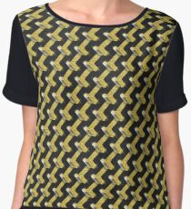 Black and Gold Pattern series Chiffon Top