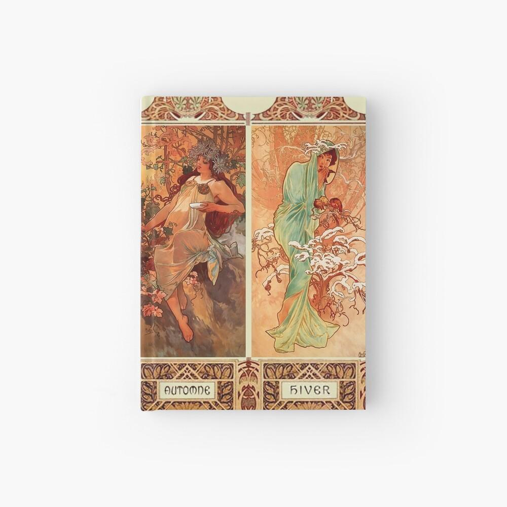 Alphonse Mucha Vier Jahreszeiten Jugendstil Notizbuch