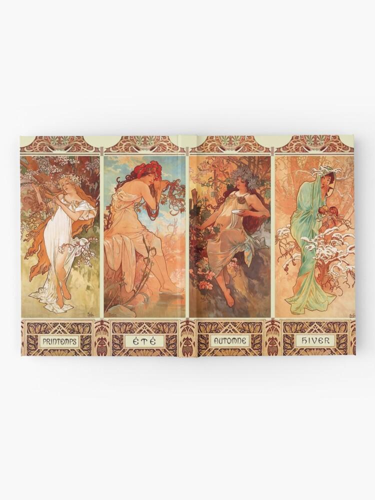 Alternative Ansicht von Alphonse Mucha Vier Jahreszeiten Jugendstil Notizbuch