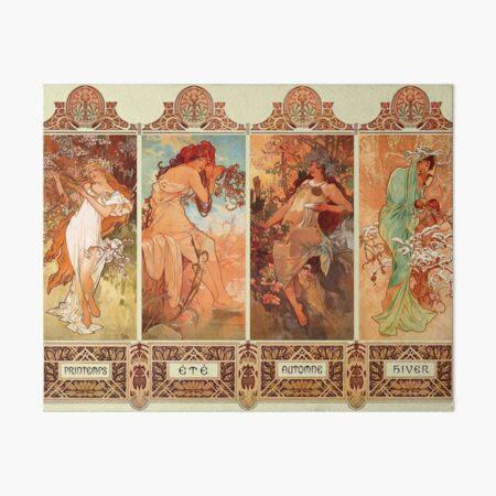 Alphonse Mucha Four Seasons Art Nouveau Art Board Print