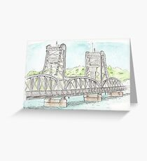 Stillwater Lift Bridge, Stillwater Minnesota. Greeting Card