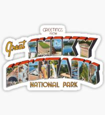 Greetings from Great Smoky Mountains National Park Sticker