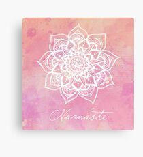 Namaste - Rose Quartz Canvas Print