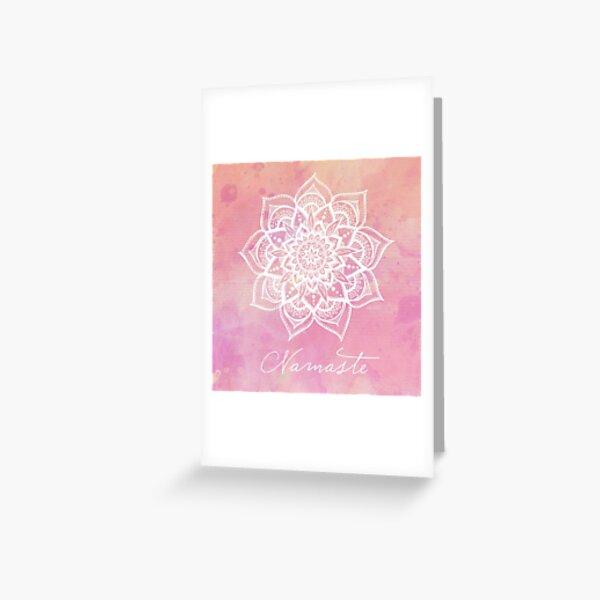 Namaste - Rose Quartz Greeting Card