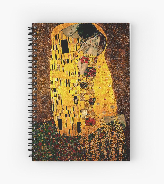 Cuadernos de espiral «Gustav Klimt El beso» de JoolyA | Redbubble