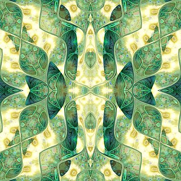 Green Forest Psychedelic Angels by webgrrl