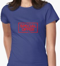 Special Offer (Red) Womens Fitted T-Shirt