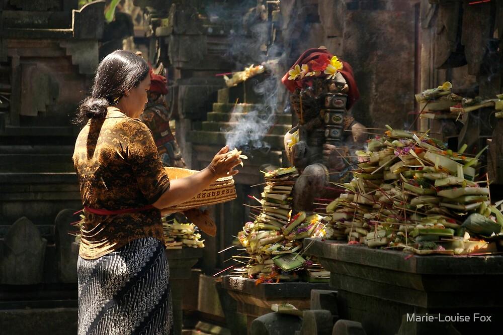 Woman praying, Bali, 2007 by Marie-Louise Fox