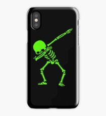 Dabbing Skeleton Green iPhone Case/Skin