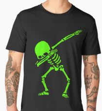 Dabbing Skeleton Green Men's Premium T-Shirt