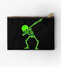 Skeleton Grün abtupfen Täschchen