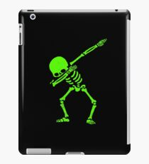 Dabbing Skeleton Green iPad Case/Skin