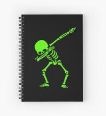 Skeleton Grün abtupfen Spiralblock