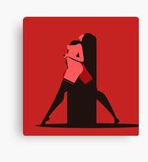 sensual woman in red scene Canvas Print