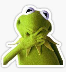 kermit thinking Sticker