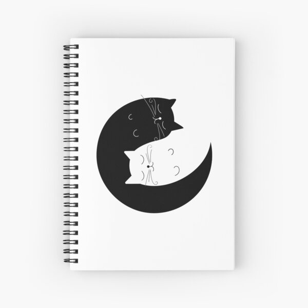 Ying yang cats Spiral Notebook