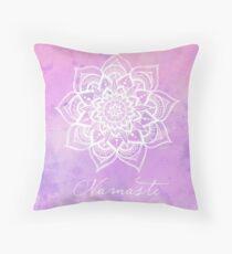 Namaste - Amethyst Throw Pillow