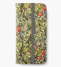 William Morris goldene Lilie iPhone Flip-Case/Hülle/Skin