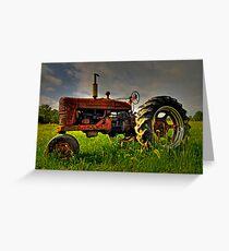 Farmall Field Of Green Greeting Card