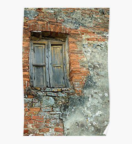 Brick Wall, Tuscany, Italy Poster