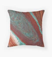 The Geode Acrylic Pour Throw Pillow