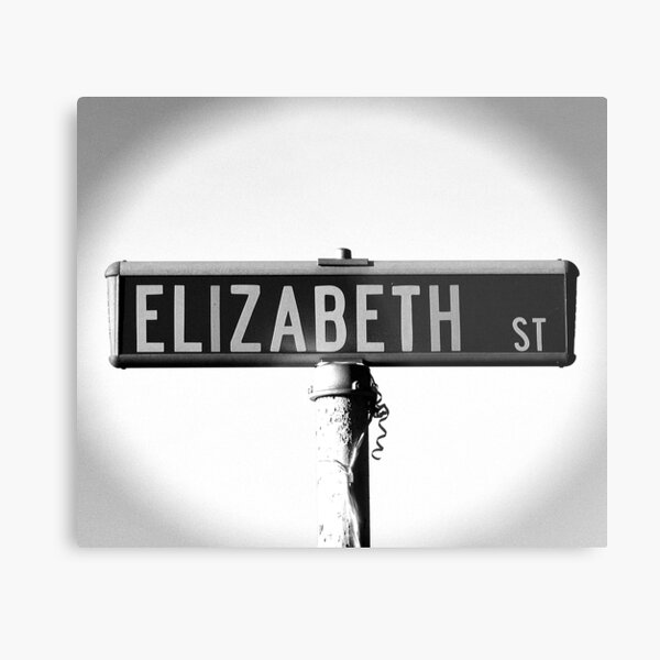 A Street Sign Named Elizabeth Metal Print